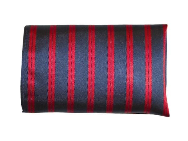 Einstecktuch dunkelblau rot gestreift