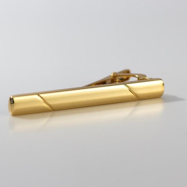 Krawattennadel gold 3d