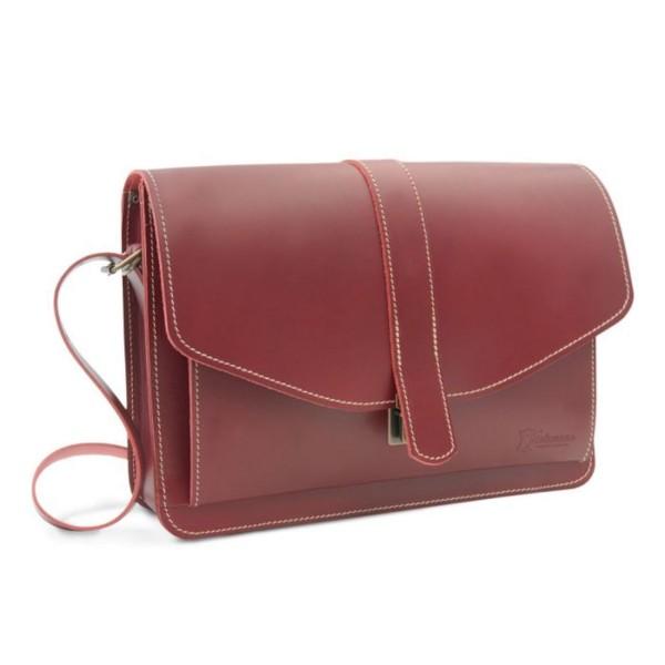 Business-Tasche aus Leder für Männer Sousse in rot