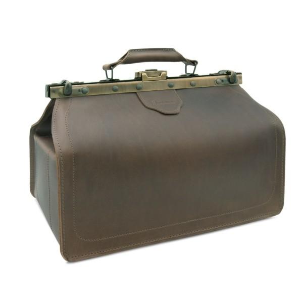 Arzttasche aus Leder braun Bergamo