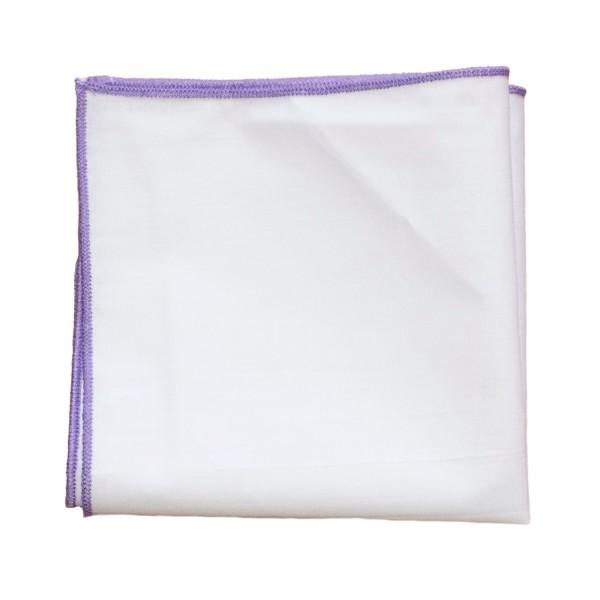einstecktuch kaufen weiß mit lila naht