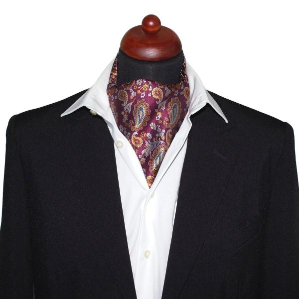 Krawattenschal weinrot mit Paisley