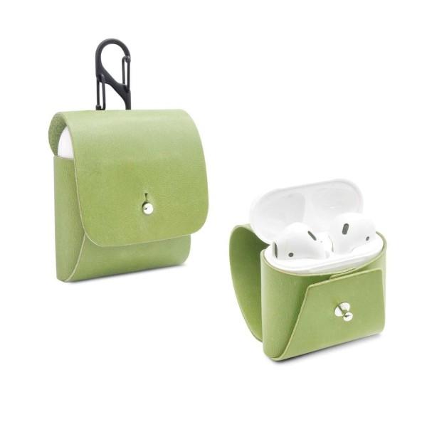 Apple AirPod Cover aus Leder in grün