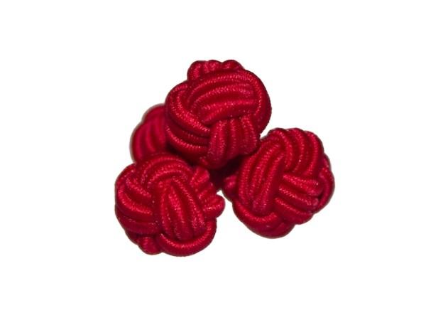 Manschettenknöpfe Seidenknoten rot