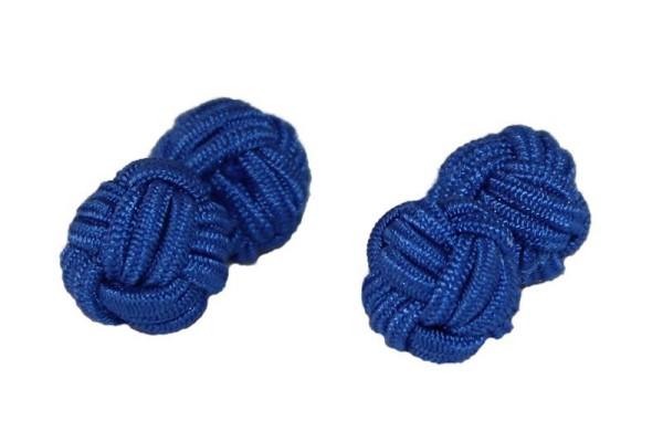 Seidenknoten Manschettenknöpfe royal blau