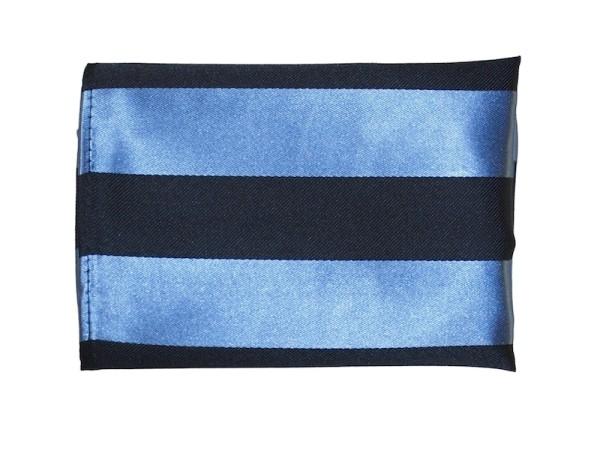 Einstecktuch Seide blau schwarz gestreift