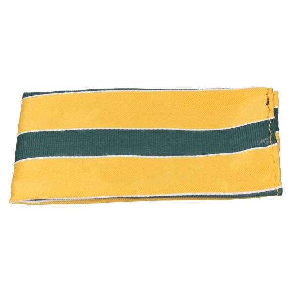 Einstecktuch Seide grün-gelb gestreift