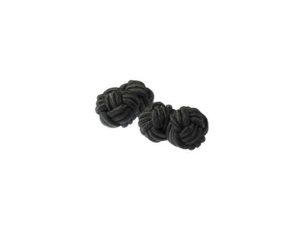 Seidenknoten Manschettenknöpfe schwarz