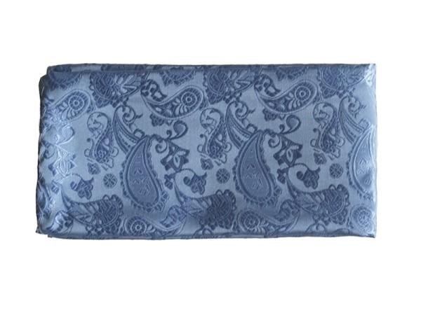 Einstecktuch hellblau mit dezentem Paisley