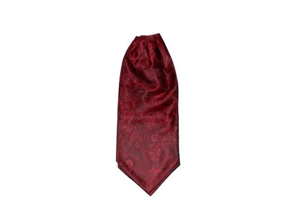 Krawattenschal Ascot rot mit Paisley