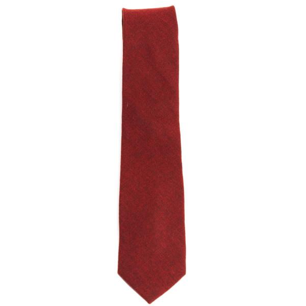 Krawatte in rot aus feiner Baumwolle