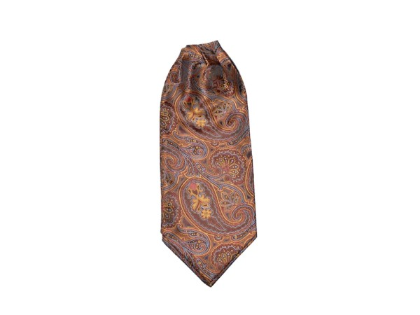 Krawattenschal rost-gold mit Paisley