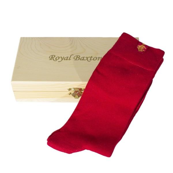 Herren-Socken rot Royal Baxton