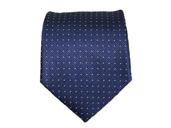 Krawatte blau fein gepunktet