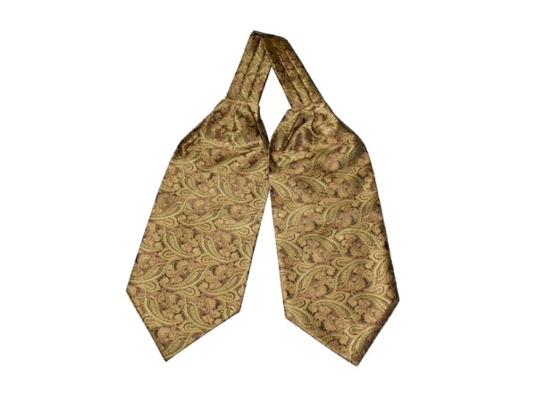 Krawattenschal gelb-gold mit Paisley
