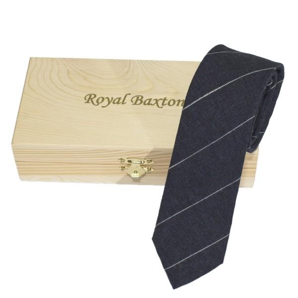 Krawatte blau aus Baumwolle