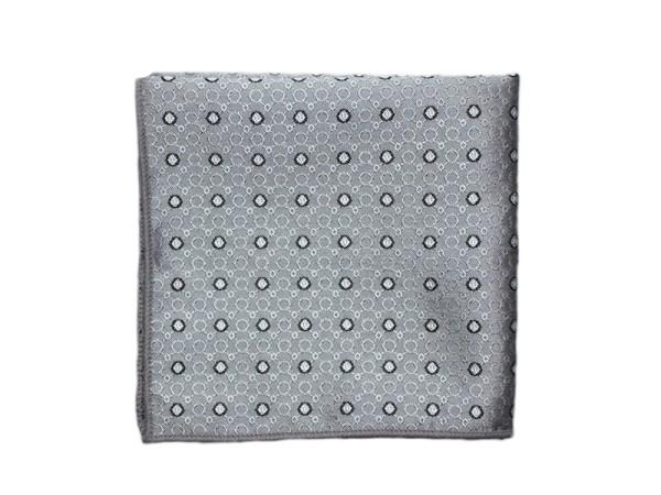 Einstecktuch grau gepunktet
