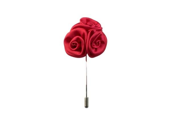 Ansteckblume rot für Herren