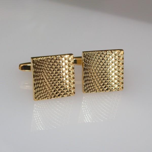 Manschettenknöpfe gold strukturiert
