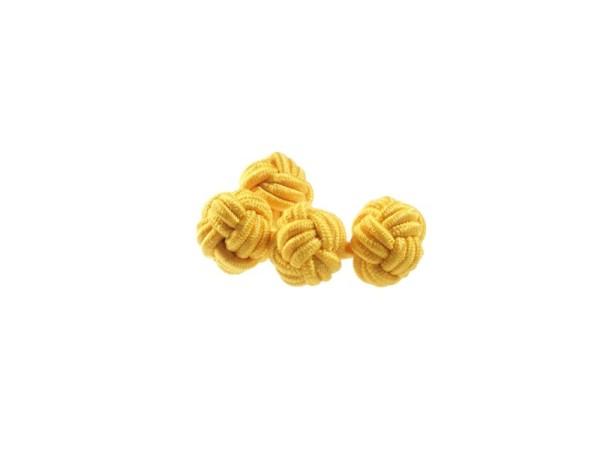 Seidenknoten Manschettenknöpfe gelb