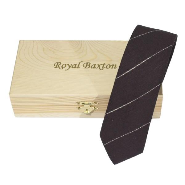 krawatte braun baumwolle